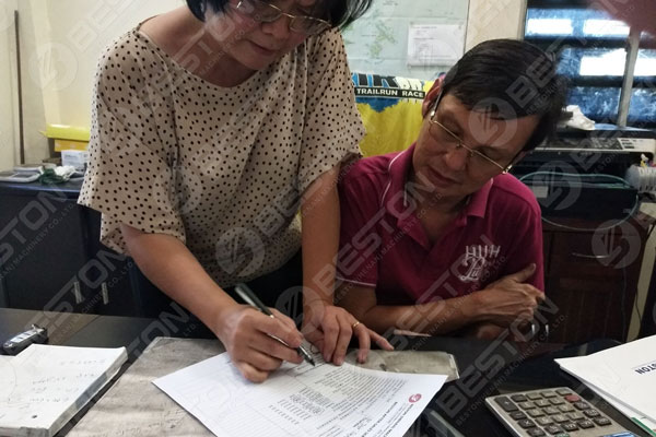 Indonesiaca Customer scripsit bonum videre to Beston Pyrolysis Machina fatigat
